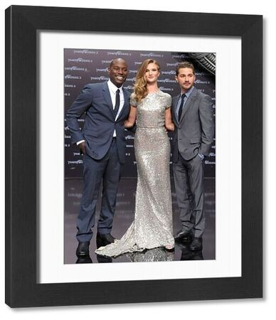 Tyrese Gibson, Rosie Huntington-Whiteley and Shia LaBoeuf at the premiere of 'Transformers 3' at the Cinestar movie theater in Berlin - 25 June 2011 FAMOUS PICTURES AND FEATURES AGENCY 13 HARWOOD ROAD LONDON SW6 4QP UNITED KINGDOM tel 0 fax 0 e-mail