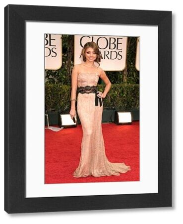 Sarah Hyland at the 69th Annual Golden Globe Awards presented by the Hollywood Foreign Press Association at Hotel Beverly Hilton in Los Angeles - 15 January 2012  FAMOUS PICTURES AND FEATURES AGENCY 13 HARWOOD ROAD LONDON SW6 4QP UNITED KINGDOM