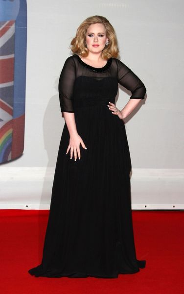 Adele at The Brit Awards held at the O2 Arena in London - 21 February 2012 FAM44043