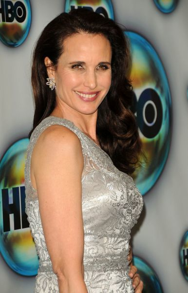 Andie MacDowell at HBO's Golden Globe after party at Circa 55 restaurant