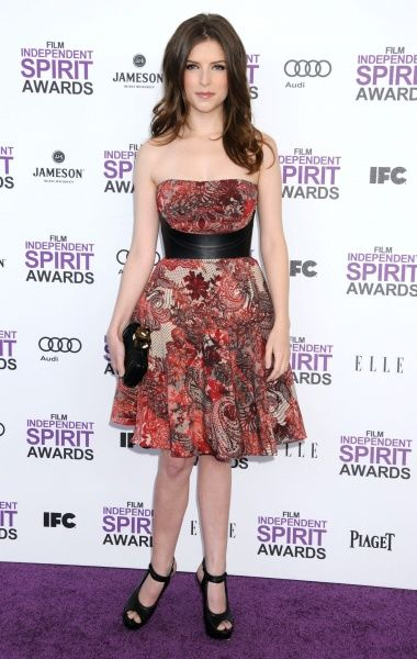 Anna Kendrick at the 2012 Film Independent Spirit Awards held on the beach in Santa Monica, California - 25 February 2012 FAMOUS PICTURES AND FEATURES AGENCY  13 HARWOOD ROAD LONDON SW6 4QP  UNITED KINGDOM  tel 0  fax 0  e-mail    FAM44071