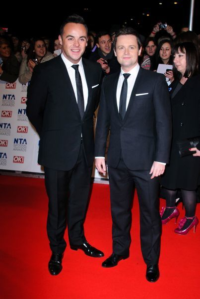 Anthony McPartlin and Declan Donnelly aka Ant and Dec at the National Television Awards held at the O2 Arena in London - 25 January 2012 FAMOUS PICTURES AND FEATURES AGENCY 13 HARWOOD ROAD LONDON SW6 4QP UNITED KINGDOM tel 0 fax 0 e-mail  FAM43763
