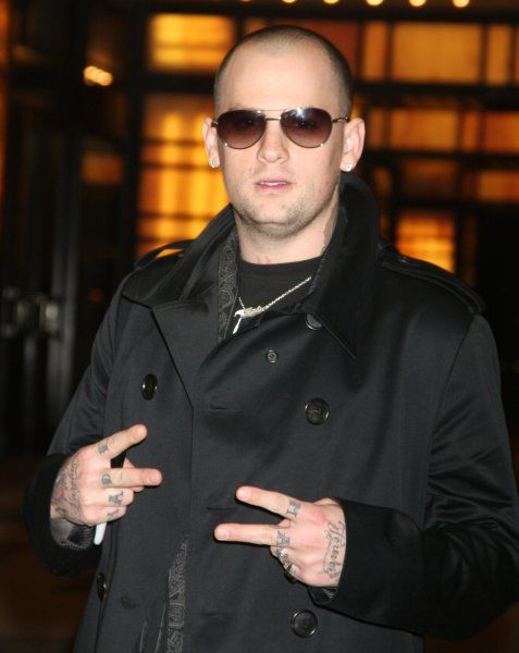 Benji Madden of Good Charlotte at the MTV Studios in New York City for TRL - 26 March 2007 FAM19911