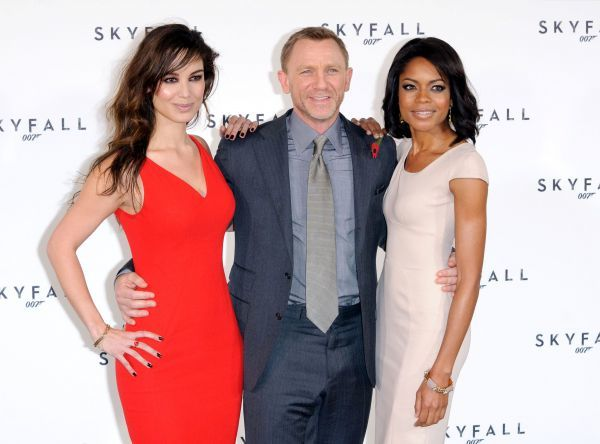 Berenice Marlohe, Daniel Craig and Naomie Harris at the launch of 'Skyfall', the 23rd James Bond movie in London - 03 November 2011 FAMOUS PICTURES AND FEATURES AGENCY 13 HARWOOD ROAD LONDON SW6 4QP UNITED KINGDOM tel 0 fax 0 e-mail  FAM43056