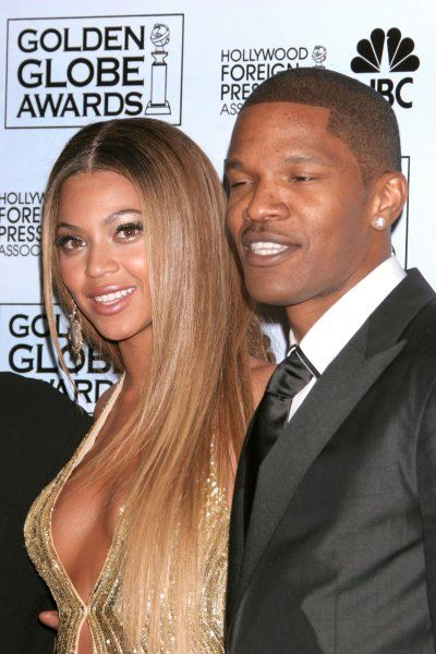 Beyonce Knowles and Jamie Foxx in the press room of the Hollywood Foreign Press Association's Golden Globe Awards at the Hotel Beverly Hilton, Hollywood - 15 January 2007 FAMOUS PICTURES AND FEATURES AGENCY 13 HARWOOD ROAD LONDON SW6 4QP