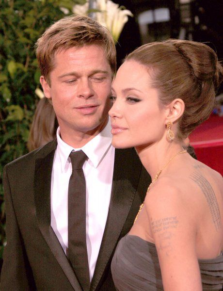 Brad Pitt and Angelina Jolie at the 64th Golden Globe Awards held at the Beverly Hilton Hotel in Los Angeles - 15 January 2007 FAM19402