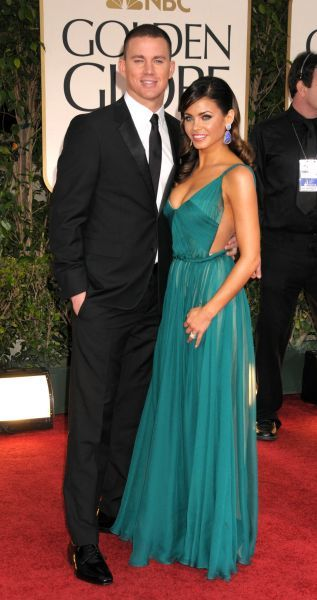 Channing Tatum and Jenna Dewan at the 69th Annual Golden Globe Awards presented by the Hollywood Foreign Press Association at Hotel Beverly Hilton in Los Angeles - 15 January 2012   FAM43673