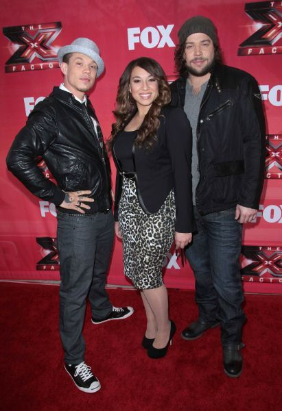 Chris Rene, Melanie Amaro and Josh Krajcik at The X Factor press conference in Los Angeles - 19 December 2011 FAMOUS  PICTURES AND FEATURES AGENCY  13 HARWOOD ROAD LONDON SW6 4QP  UNITED KINGDOM  FAM43570