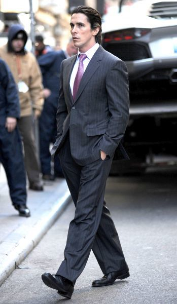 Christian Bale on the set of the film 'The Dark Knight Rises' in New York City - 28 October 2011  FAM42993