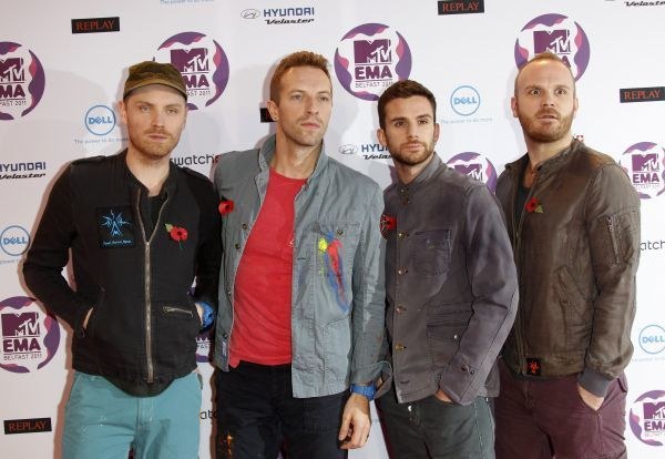 Coldplay at the MTV Europe Music Awards held at the Odyssey Arena in Belfast - 06 November 2011 FAM43091