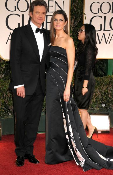 Colin Firth and Livia Giuggioli at the 69th Annual Golden Globe Awards presented by the Hollywood Foreign Press Association at Hotel Beverly Hilton in Los Angeles - 15 January 2012  FAMOUS PICTURES AND FEATURES AGENCY 13 HARWOOD ROAD LONDON