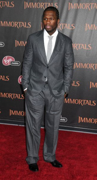 Curtis Jackson aka 50 Cent at the premiere of 'Immortals' held at the Nokia Theater L.A. Live in Los Angeles - 07 November 2011 FAMOUS  PICTURES AND FEATURES AGENCY  13 HARWOOD ROAD LONDON SW6 4QP  UNITED KINGDOM  tel 0  fax 0  e-mail    FAM43119