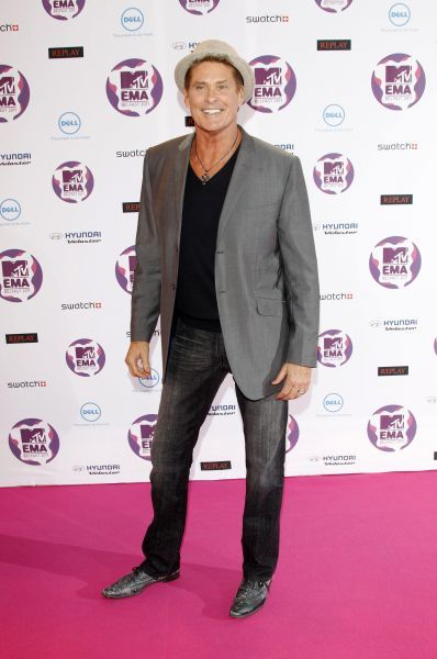 David Hasselhoff at the MTV Europe Music Awards held at the Odyssey Arena in Belfast - 06 November 2011 FAM43091