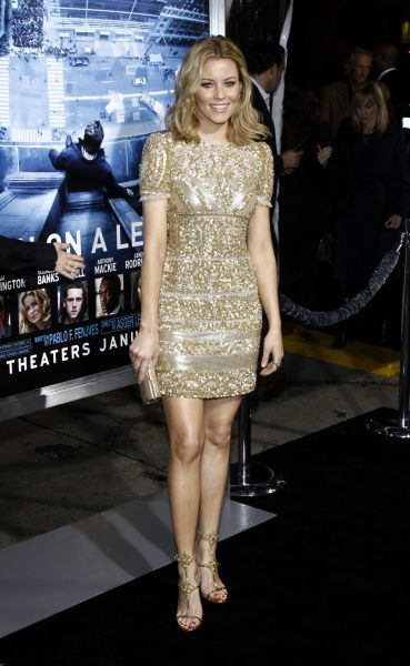 Elizabeth Banks at the premiere of 'Man on a Ledge' at Grauman's Chinese Theatre in Los Angeles - 23 January 2012 FAMOUS  PICTURES AND FEATURES AGENCY  13 HARWOOD ROAD LONDON SW6 4QP  UNITED KINGDOM  FAM43744