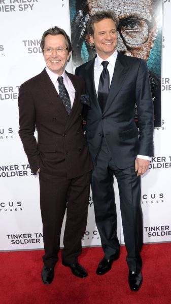 Gary Oldman and Colin Firth at the premiere of 'Tinker Tailor Soldier Spy' held at the Arclight Cinema in Los Angeles - 06 December 2011 FAMOUS  PICTURES AND FEATURES AGENCY  13 HARWOOD ROAD LONDON SW6 4QP  UNITED KINGDOM  tel 0  fax 0  e-mail