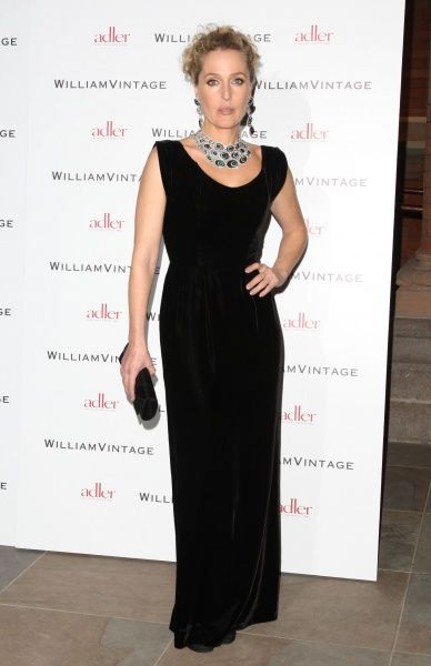 Gillian Anderson at the Gillian Anderson and William Vintage BAFTA dinner at St Pancras Renaissance Hotel in London - 10 February 2012 FAM43902
