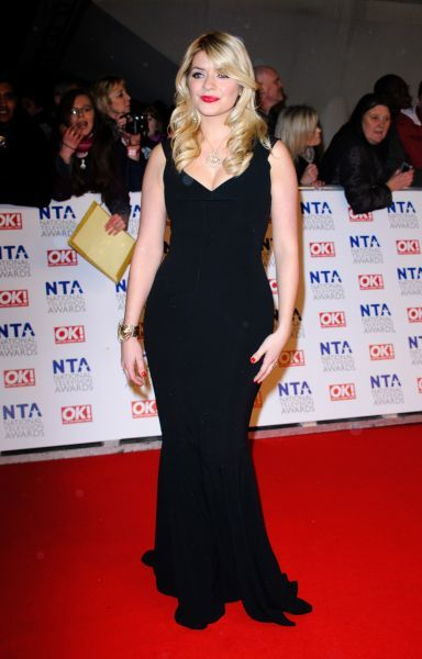 Holly Willoughby at the National Television Awards held at the O2 Arena