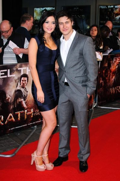 "Jacqueline Jossa and Tony Discipline at the premiere of ""Wrath of the Titans"" held at the BFI Imax in London - 29 March 2012 FAMOUS PICTURES AND FEATURES AGENCY 13 HARWOOD ROAD LONDON SW6 4QP UNITED KINGDOM tel 0 fax 0 e-mail  FAM44413"