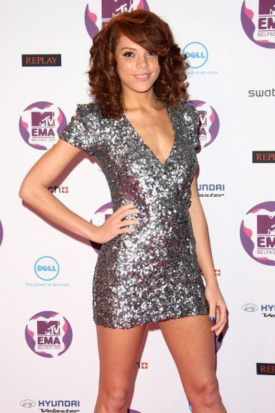 Jade Thompson at the MTV Europe Music Awards held at the Odyssey Arena in Belfast - 06 November 2011 FAM43091