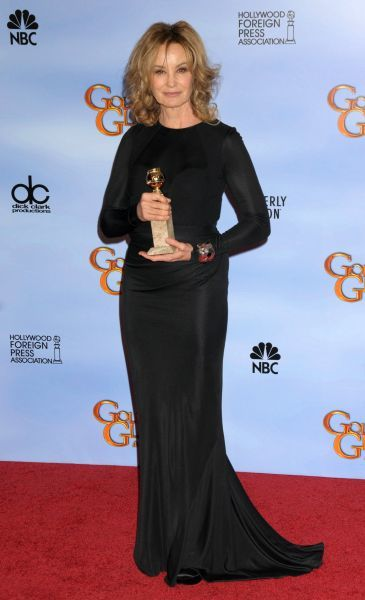 Jessica Lange at the 69th Annual Golden Globe Awards press room presented by the Hollywood Foreign Press Association at Hotel Beverly Hilton in Los Angeles - 15 January 2012 FAMOUS PICTURES AND FEATURES AGENCY  13 HARWOOD ROAD LONDON SW6 4QP