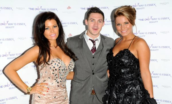 Jessica Wright, Kirk Norcross and Sam Faiers at The Only Way Is Essex fragrance and beauty collection launch at the Sanctum Soho Hotel in London - 07 September 2011 FAM42322
