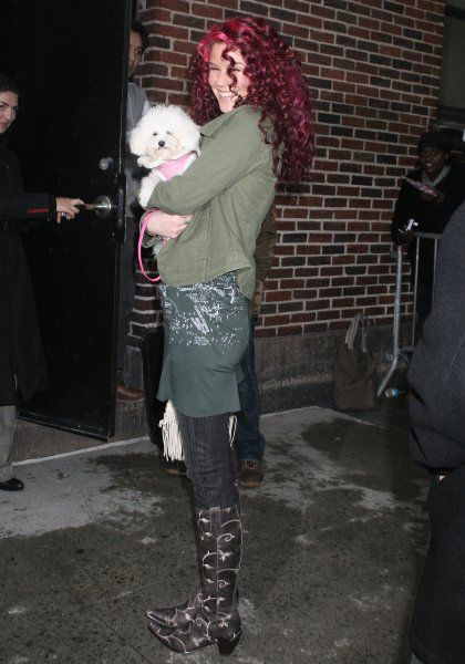 Joss Stone arriving for the Late Show With David Letterman in New York City - 19 March 2007 FAM19840
