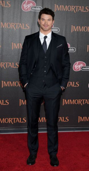 Kellan Lutz at the premiere of 'Immortals' held at the Nokia Theater L.A. Live in Los Angeles - 07 November 2011 FAMOUS  PICTURES AND FEATURES AGENCY  13 HARWOOD ROAD LONDON SW6 4QP  UNITED KINGDOM  FAM43119