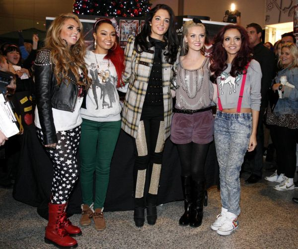 Little Mix and Tulisa Contostavlos at a signing at Liberty Shopping Centre in Essex - 05 December 2011 FAM43424