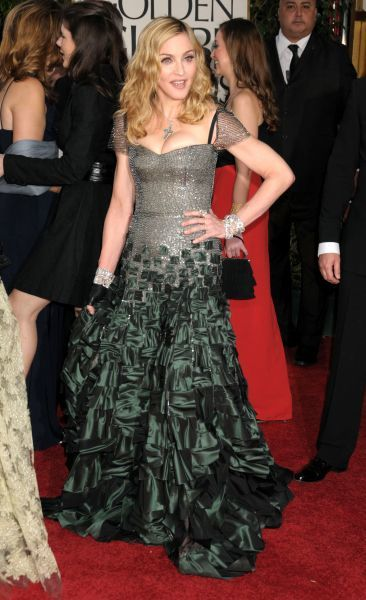 Madonna at the 69th Annual Golden Globe Awards presented by the Hollywood Foreign Press Association at Hotel Beverly Hilton in Los Angeles - 15 January 2012   FAM43673