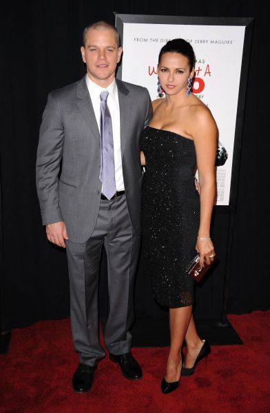 Matt Damon and his wife Luciana Barroso at the premiere of 'We Bought a Zoo' in New York City - 12 December 2011 FAM43509