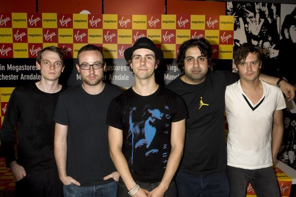 Maximo Park perform and sign records at Virgin in Manchester - 11 June 2006 FAMOUS PICTURES AND FEATURES AGENCY 13 HARWOOD ROAD LONDON SW6 4QP UNITED KINGDOM tel 0 fax 0 e-mail  FAM20681