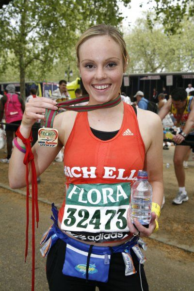 Michelle Dewberry at the end of the Flora London Marathon - 22 April 2007 FAMOUS PICTURES AND FEATURES AGENCY 13 HARWOOD ROAD LONDON SW6 4QP UNITED KINGDOM tel +44 (0) 20 7731 9333 fax +44 (0) 20 7731 9330 e-mail info@famous.uk.com www.famous