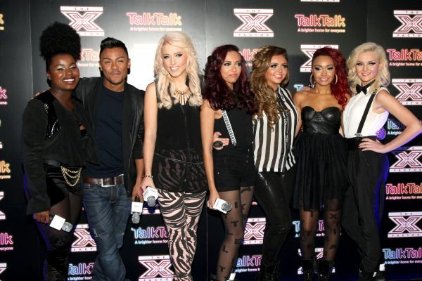Misha B, Marcus Collins, Amelia Lily and Little Mix at The X Factor secret gig in London - 30 November 2011  13 HARWOOD ROAD LONDON SW6 4QP UNITED KINGDOM e-mail  FAM43384