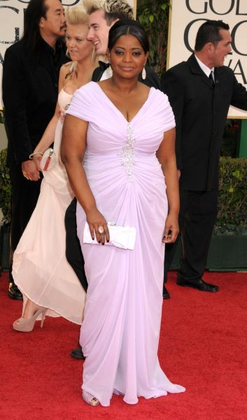 Octavia Spencer at the 69th Annual Golden Globe Awards presented by the Hollywood Foreign Press Association at Hotel Beverly Hilton in Los Angeles - 15 January 2012  FAMOUS PICTURES AND FEATURES AGENCY 13 HARWOOD ROAD LONDON SW6 4QP UNITED KINGDOM