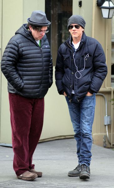 Oliver Platt and Kevin Bacon out and about in the West Village, New York City - 06 January 2012 FAM43613