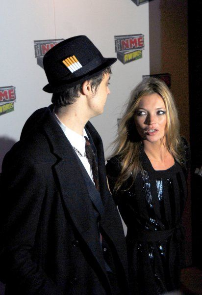Pete Doherty and Kate Moss at the NME Awards 2007, Hammersmith Palais, London - 01 March 2007 FAMOUS PICTURES AND FEATURES AGENCY 13 HARWOOD ROAD LONDON SW6 4QP UNITED KINGDOM tel +44 (0) 20 7731 9333 fax +44 (0) 20 7731 9330 e-mail info@famous