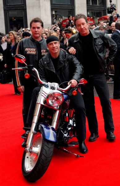 "Rat Liotta, John Travolta and Tim Allen at the UK Premiere of ""Wild Hogs"" at the Odeon West End, London - 28 March 2007 FAMOUS PICTURES AND FEATURES AGENCY 13 HARWOOD ROAD LONDON SW6 4QP UNITED KINGDOM tel +44 (0) 20 7731 9333 fax +44"