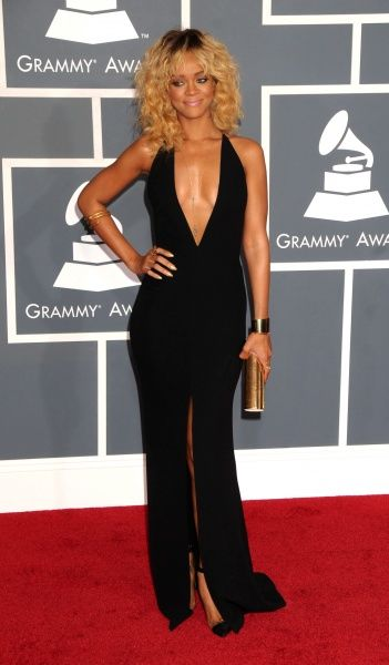 Rihanna at the 2012 Grammy Awards held at the Staples Center in Los Angeles