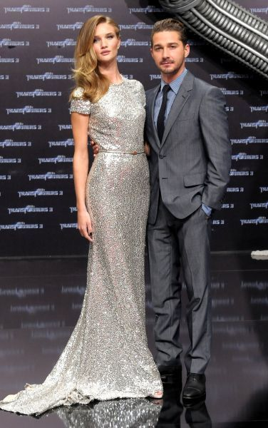 Rosie Huntington-Whiteley adn Shia LaBoeuf at the premiere of 'Transformers 3' at the Cinestar movie theater in Berlin - 25 June 2011 FAM41752