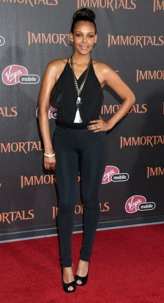 Samantha Mumba at the premiere of 'Immortals' held at the Nokia Theater L.A. Live in Los Angeles - 07 November 2011 FAMOUS PICTURES AND FEATURES AGENCY 13 HARWOOD ROAD LONDON SW6 4QP UNITED KINGDOM tel 0 fax 0 e-mail FAM43119