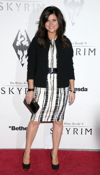 Tiffani Thiessen at the Skyrim video game launch held at the Belasco Theater in Los Angeles - 08 November 2011 FAMOUS  PICTURES AND FEATURES AGENCY  13 HARWOOD ROAD LONDON SW6 4QP  UNITED KINGDOM  FAM19397