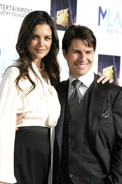 Tom Cruise and Katie Holmes at Mentor LA's Promise Gala honouring Tom Cruise held at the 20th Century Fox Studios in Los Angeles - 22 March 2007 FAMOUS PICTURES AND FEATURES AGENCY 13 HARWOOD ROAD LONDON SW6 4QP UNITED KINGDOM tel +44 (0)