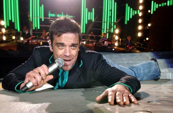 UK ONLY. Robbie Williams live in Budapest - 19 July 2006