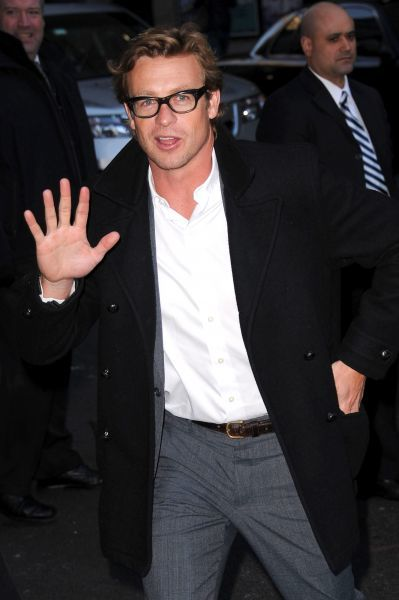 Simon Baker at the Late Show with David Letterman in New York City - 16 January 2012   FAM43677