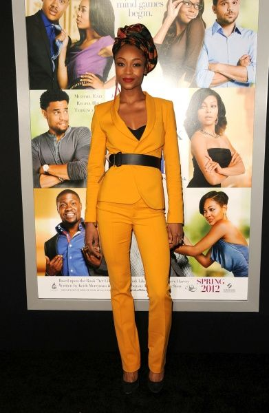 Yaya DaCosta at the premiere of 'Think Like A Man' at ArcLight Cinemas in Hollywood, California - 09 February 2012 FAM43908