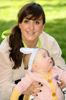 Natalie Cassidy and her daughter Eliza